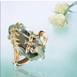 Jewelry - Dragonfly Green Gold Ring